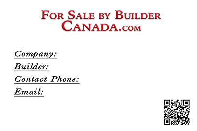 For Sale by Builder Canada.com