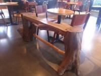 A solid dogwood bench